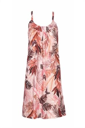 Pink Label γυναικείo νυχτικό με tropical print