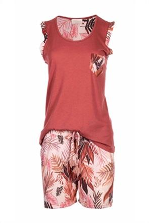 Pink Label γυναικεία πιτζάμα με tropical print