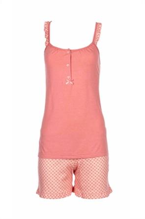 Pink Label γυναικείο baby doll με μικροσχέδιο