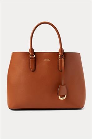 "Lauren Ralph Lauren γυναικεία δερμάτινη τσάντα χειρός με logo print ""Large Marcy Satchel"""