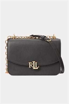 "Lauren Ralph Lauren γυναικεία δερμάτινη crossbody τσάντα με αλυσίδα ""Pebbled Madison"""