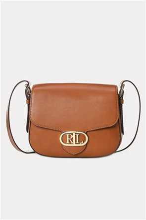 "Lauren Ralph Lauren γυναικεία δερμάτινη crossbody τσάντα με μεταλλικό logo ""Medium Addie"""