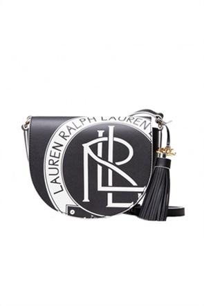 """Lauren Ralph Lauren γυναικεία δερμάτινη crossbody τσάντα με graphic print """"Witley"""""""