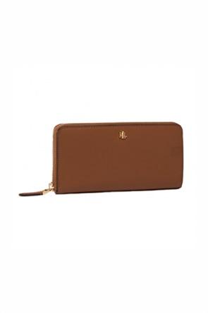 Lauren Ralph Lauren γυναικείo δερμάτινo πορτοφόλι με μεταλλικό λογότυπο