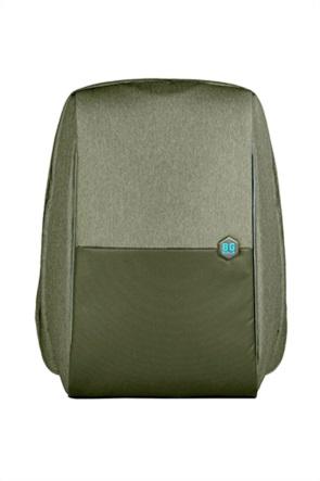 "BG Berlin σακίδιο πλάτης με μεταλλικό λογότυπο και θύρα usb ""Groen"""