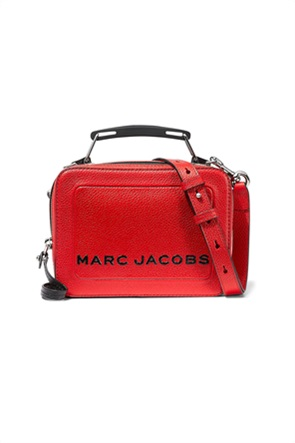 "Marc Jacobs γυναικεία δερμάτινη τσάντα χειρός με μεταλλικό λογότυπο ""The Box 20"""
