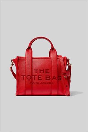 "Marc Jacobs γυναικεία δερμάτινη τσάντα χειρός με logo print ""The Mini Tote"""