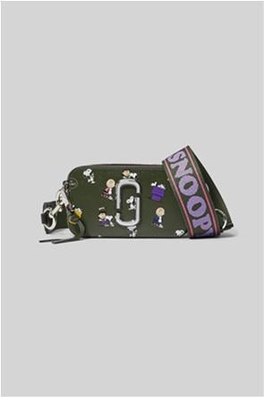 "Marc Jacobs γυναικείο δερμάτινο mini bag all-over print ""The Peanuts Snapshot"""