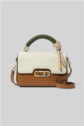 "Marc Jacobs γυναικεία τσάντα χειρός colorblocked με μεταλλικό logo ""The J Link """