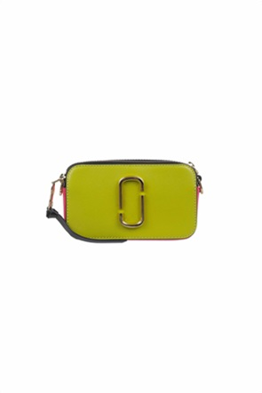 "Marc Jacobs γυναικείο δερμάτινο mini bag colourblocked με μεταλλικό λογότυπο ""The Snapshot"""