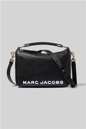 "Marc Jacobs γυναικεία δερμάτινη τσάντα χειρός με logo print ""The Softbox"""