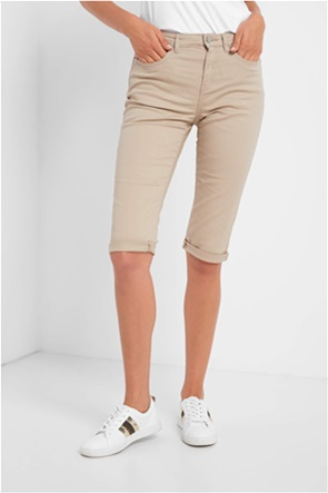 Orsay γυναικείο παντελόνι capri με ρεβέρ Slim Fit
