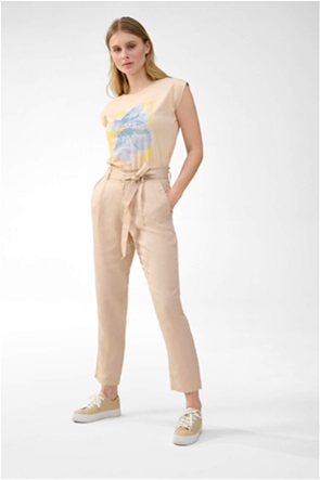 Orsay γυναικείο παντελόνι ψηλόμεσο με ζώνη