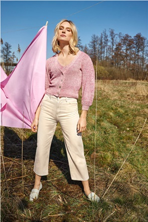 Orsay γυναικείο παντελόνι ψηλόμεσο cropped