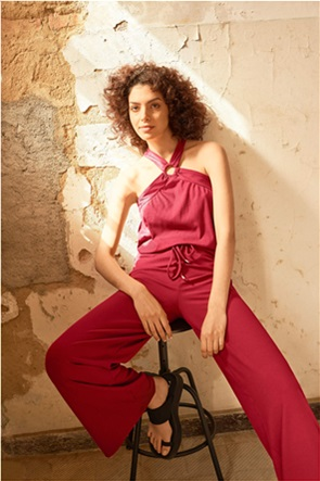 Orsay γυναικεία ribbed παντελόνα μονόχρωμη