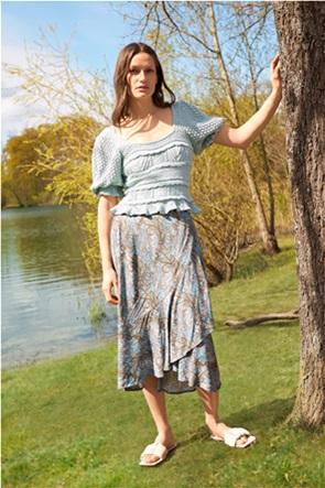 Orsay γυναικεία midi φούστα ασύμμετρη με paisley print