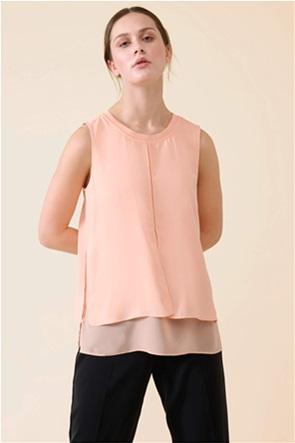 Orsay γυναικεία μπλούζα αμάνικη με layer