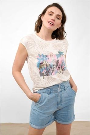Orsay γυναικεία μπλούζα με tropical print