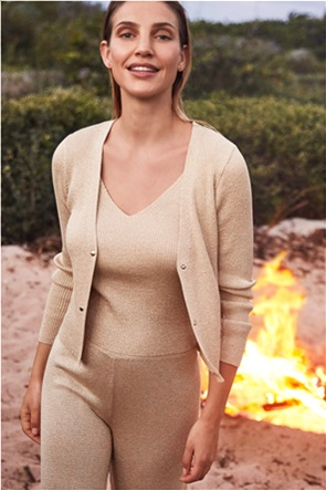 Orsay γυναικείο top ribbed αμάνικο