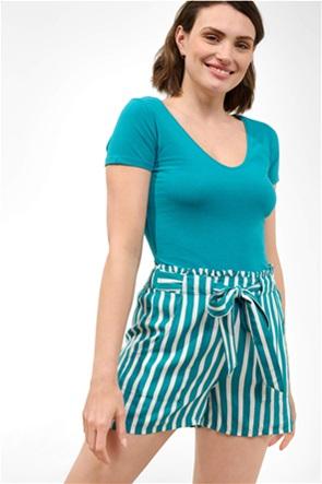Orsay γυναικείο T-shirt μονόχρωμο με V λαιμόκοψη