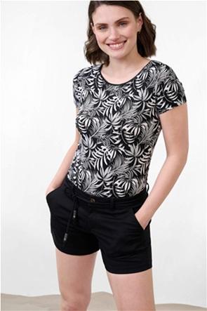 Orsay γυναικεία μπλούζα με tropical print και ανοιχτή λαιμόκοψη