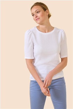 Orsay γυναικεία μπλούζα μονόχρωμη με puff μανίκια