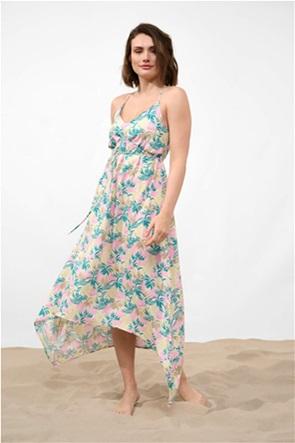 Orsay γυναικείο maxi φόρεμα floral ασύμμετρο