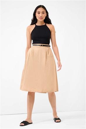 Orsay γυναικεία midi φούστα με πλισέ λεπτομέρειες και ζώνη στη μέση