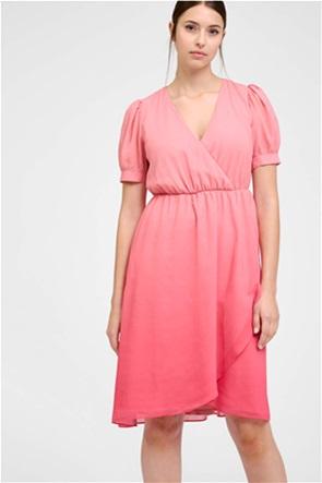 Orsay γυναικείο mini φόρεμα κρουαζέ με puff μανίκια