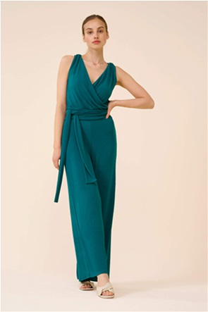 Orsay γυναικεία ολόσωμη φόρμα με ζώνη στη μέση και crossover σχέδιο στην πλάτη