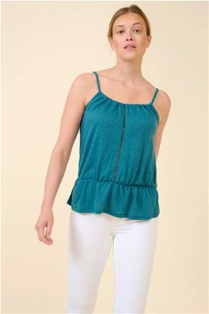 Orsay γυναικεία μπλούζα με διάτρητες λεπτομέρειες και λεπτές τιράντες