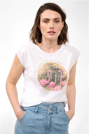 Orsay γυναικείο T-shirt με flamingo print