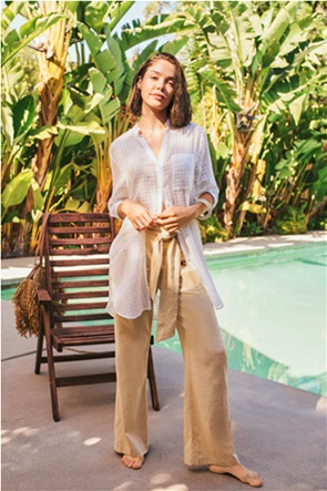 Orsay γυναικεία πουκαμίσα με καρό σχέδιο και ζωνάκι στη μέση