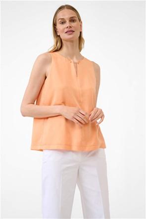 Orsay γυναικεία μπλούζα αμάνικη με μεταλλική λεπτομέρεια