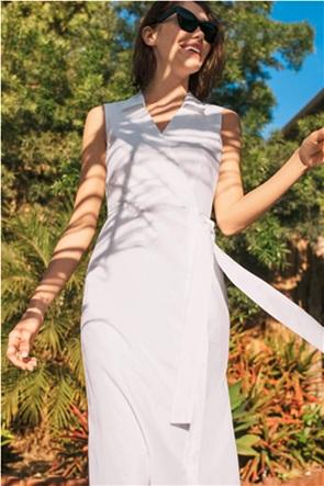 Orsay γυναικείο midi φόρεμα αμάνικο με ζώνη στη μέση