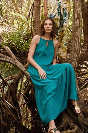 Orsay γυναικείο maxi φόρεμα με διακοσμητικές ραφές και cut out λεπτομέρεια