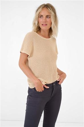 Orsay γυναικεία πλεκτή μπλούζα με στρογγυλή λαιμόκοψη