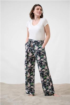 Orsay γυναικεία παντελόνα floral με ζώνη