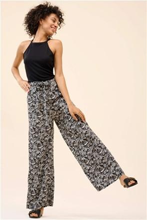 Orsay γυναικεία παντελόνα με all-over print και ζώνη στη μέση