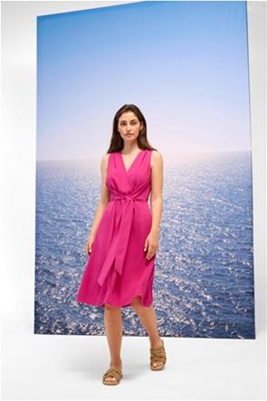 Orsay γυναικείο midi φόρεμα μονόχρωμο με ζώνη στη μέση