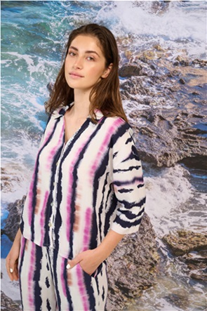 Orsay γυναικείο πουκάμισο με tie dye print