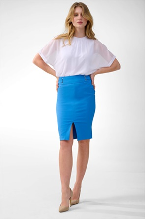 Orsay γυναικεία pencil φούστα με διακοσμητικά λουριά