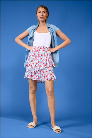 Orsay γυναικεία mini φούστα με all-over floral print και βολάν