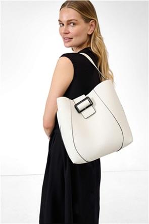 Orsay γυναικεία τσάντα ώμου hobo με faux leather