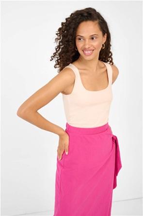 Orsay γυναικεία μπλούζα αμάνικη με φαρδιές τιράντες