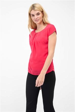 Orsay γυναικεία μπλούζα ασύμμετρη με πιέτες στο στήθος