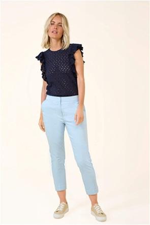 Orsay γυναικείο παντελόνι cropped μονόχρωμο