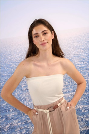 Orsay γυναικεία μπλούζα στράπλες μονόχρωμη