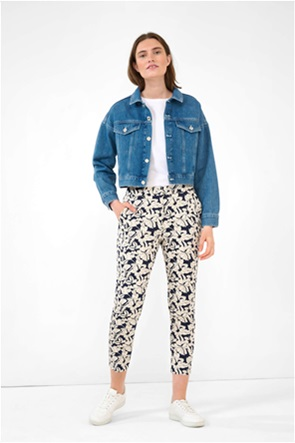 Orsay γυναικείο παντελόνι cropped με all-over floral print