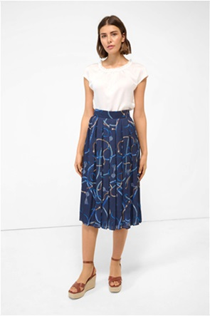 Orsay γυναικεία midi φούστα πλισέ με all-over print